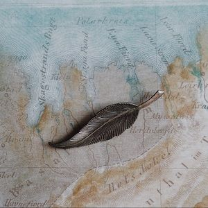 Vintage Sterling Silver Feather Brooch